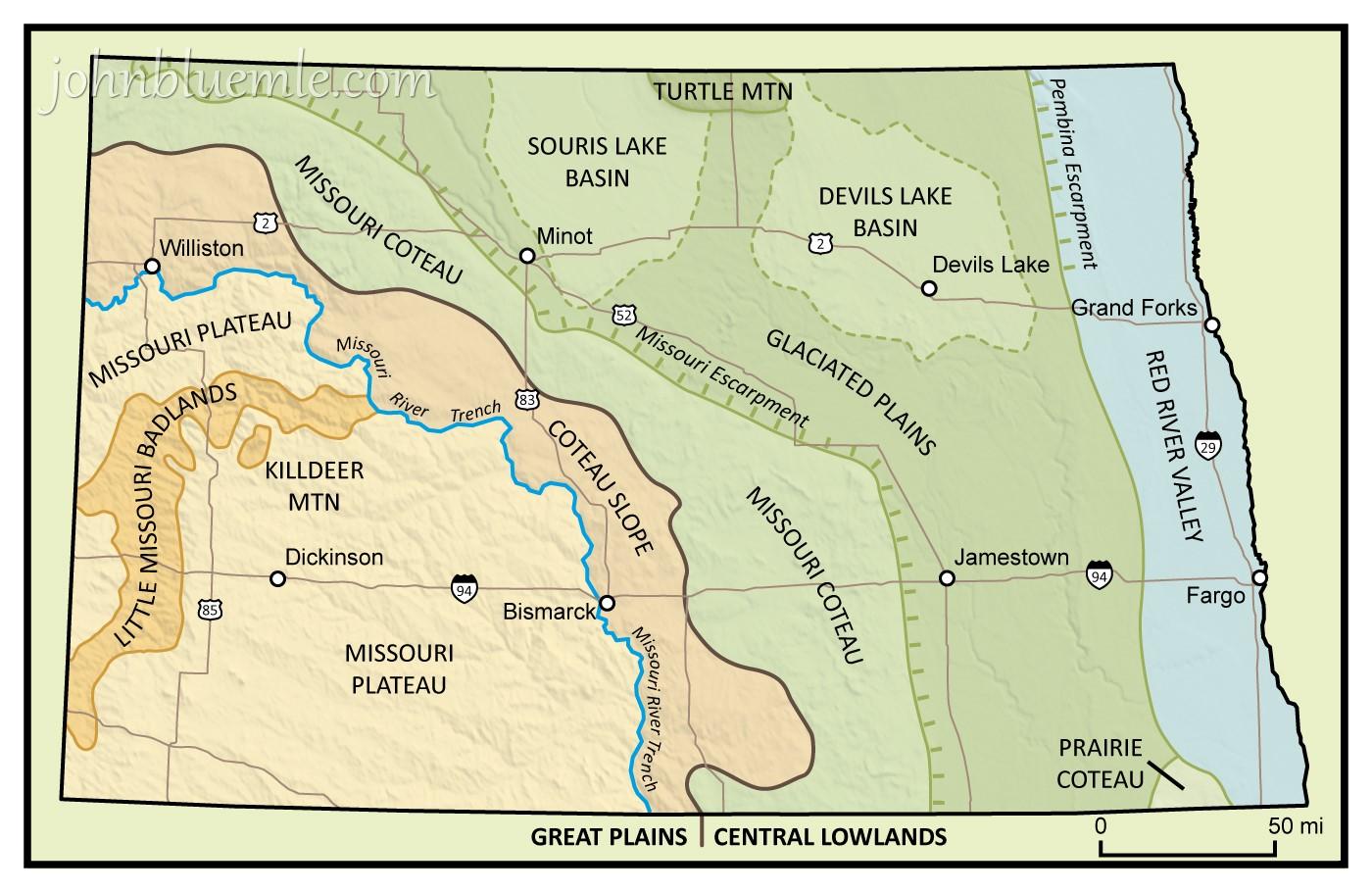 Physiographic Regions Missouri