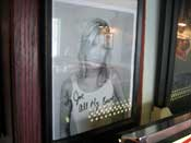 Autographed Tori Spelling photo at Planet Java