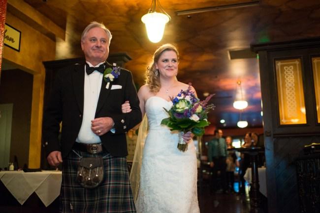downtown denver wedding photography bride walks down aisle
