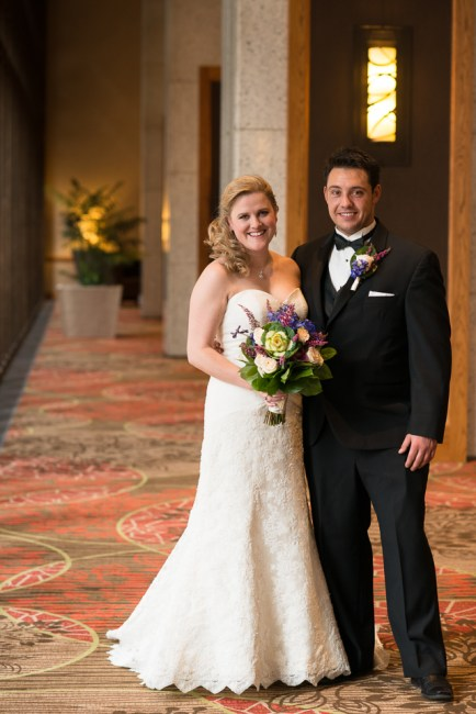 downtown denver wedding photography bride and groom portrait