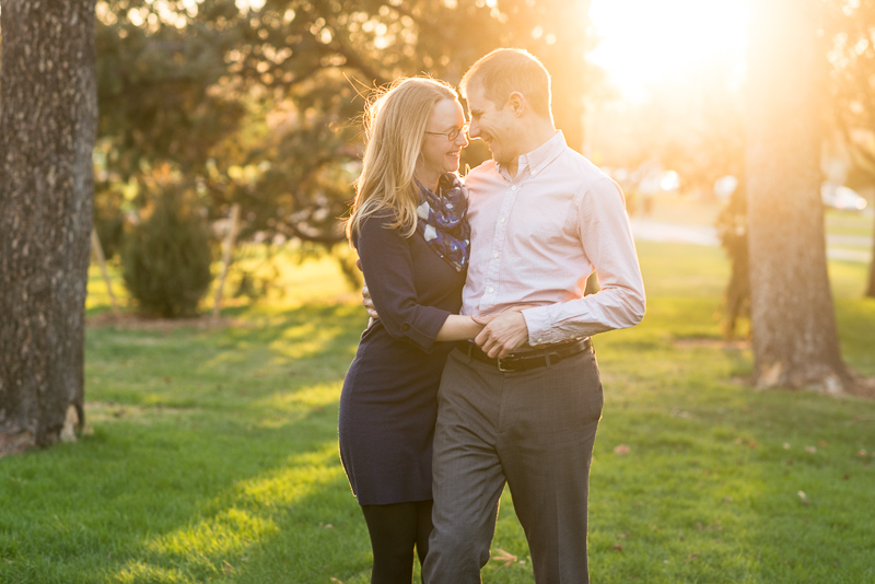 Denver Engagement Photography couple laughing in sunshine
