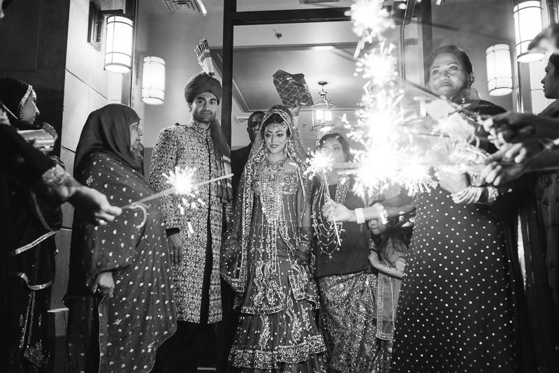 Denver Pakistani Wedding sparkler exit