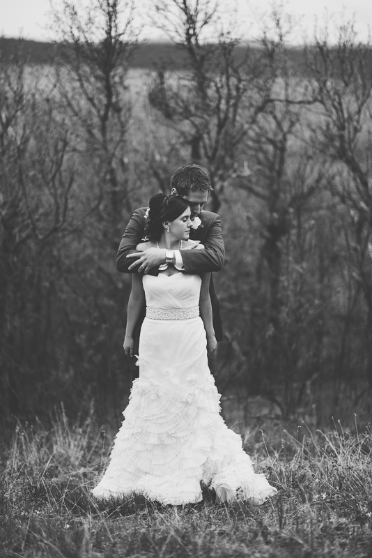 Spruce Mountain Ranch Wedding Photography dramatic black and white of bride and groom