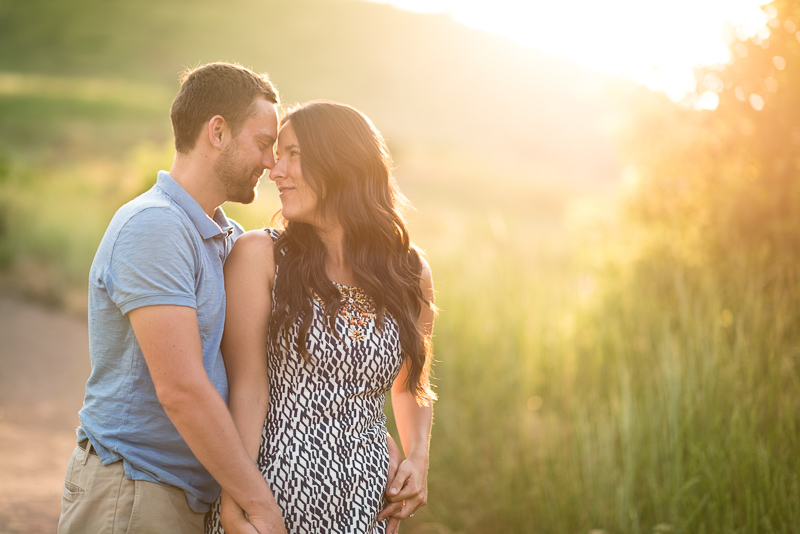 Golden Engagement Photography couple in beautiful light