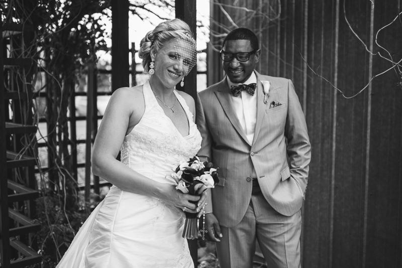 Denver Wedding Photographer happy black and white