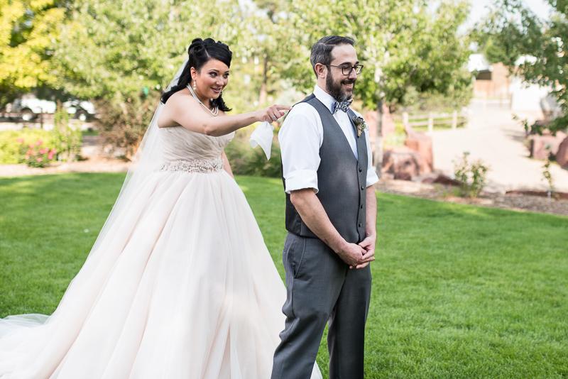 Denver Wedding Photographer Hudson Gardens first look