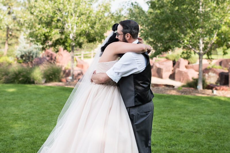 Denver Wedding Photographer Hudson Gardens first look