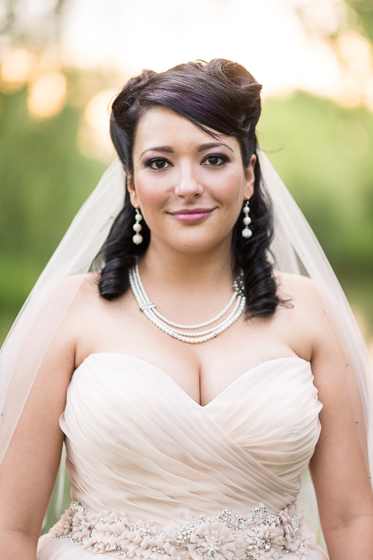 Denver Wedding Photographer Hudson Gardens bride portrait