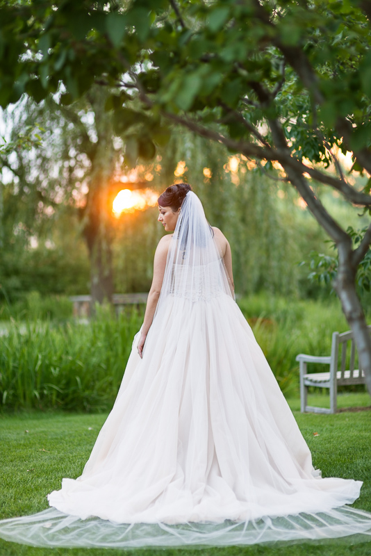 Denver Wedding Photographer Hudson Gardens bride portrait
