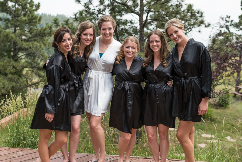 Golden Wedding Photographer bridesmaids in robes