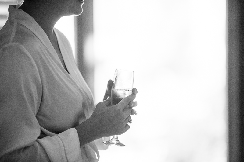 Golden Wedding Photographer black and white champagne
