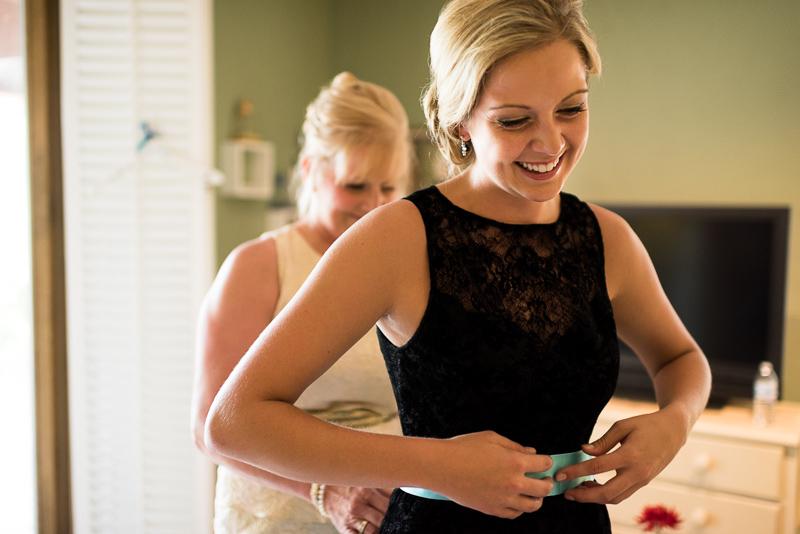 Golden Wedding Photographer smiling bridesmaid