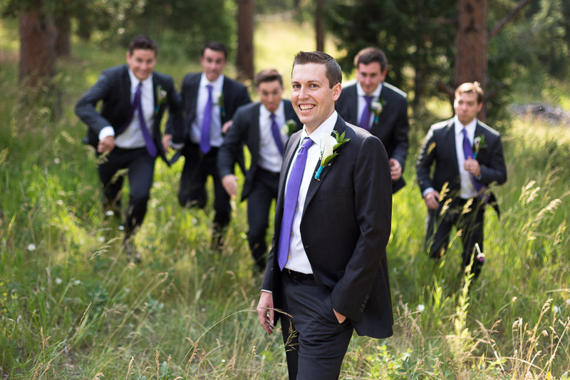 Golden Wedding Photographer groomsmen running