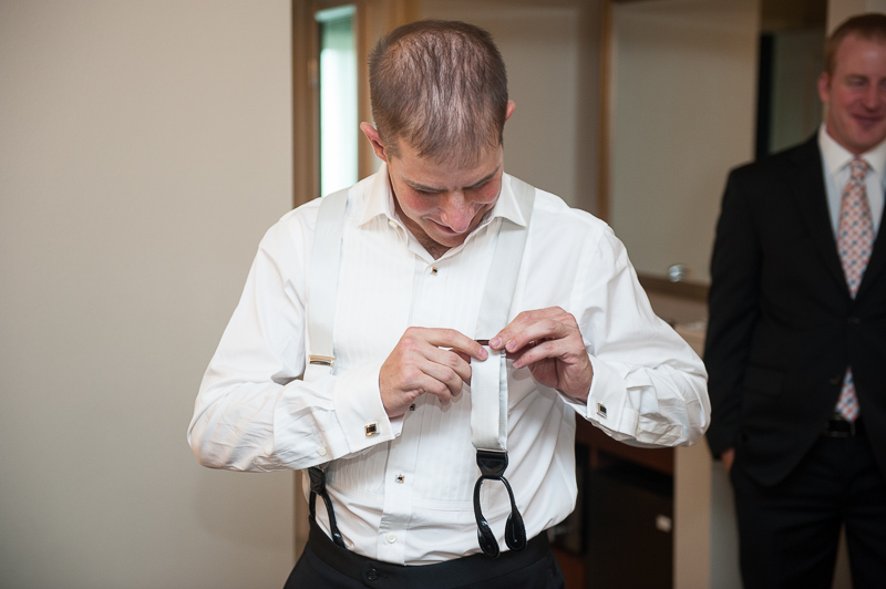 Denver Opera House Wedding Photographer groom getting ready