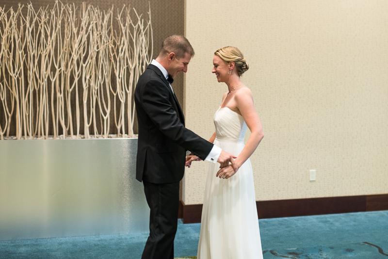 Denver Opera House Wedding Photographer first look