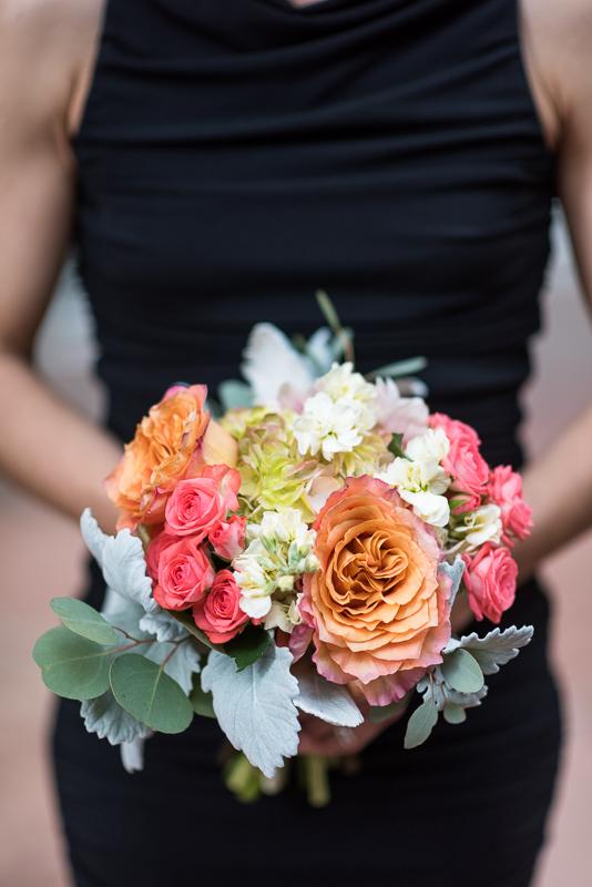 Denver Opera House Wedding Photographer bridesmaid bouquet