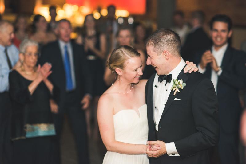 Denver Opera House Wedding Photographer bride and groom dancing