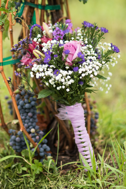 Palisade Wedding Photography bouquet and grapes