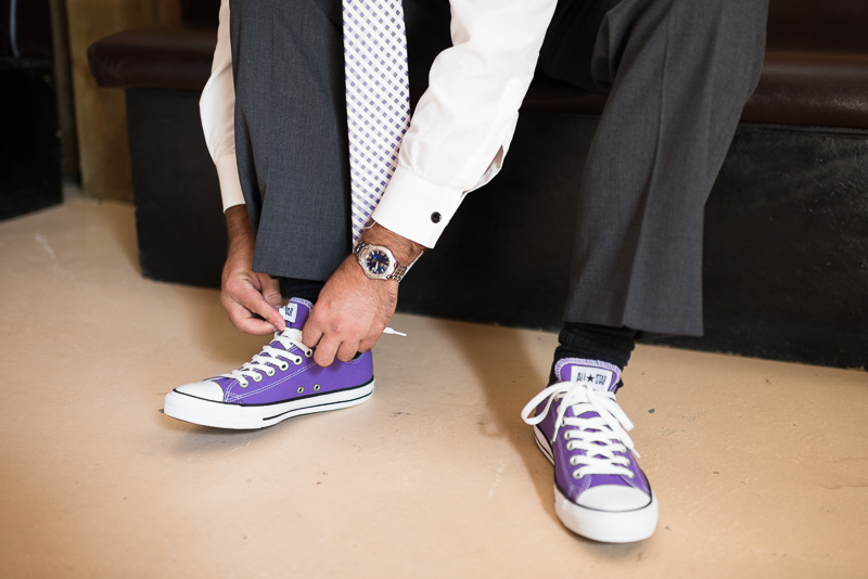 Palisade Wedding Photography purple converse