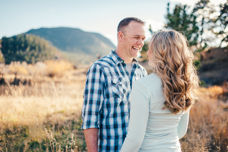 Denver Engagement Photographer couple with mountains
