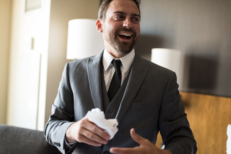 Denver Wedding Photography History Colorado groom laughing