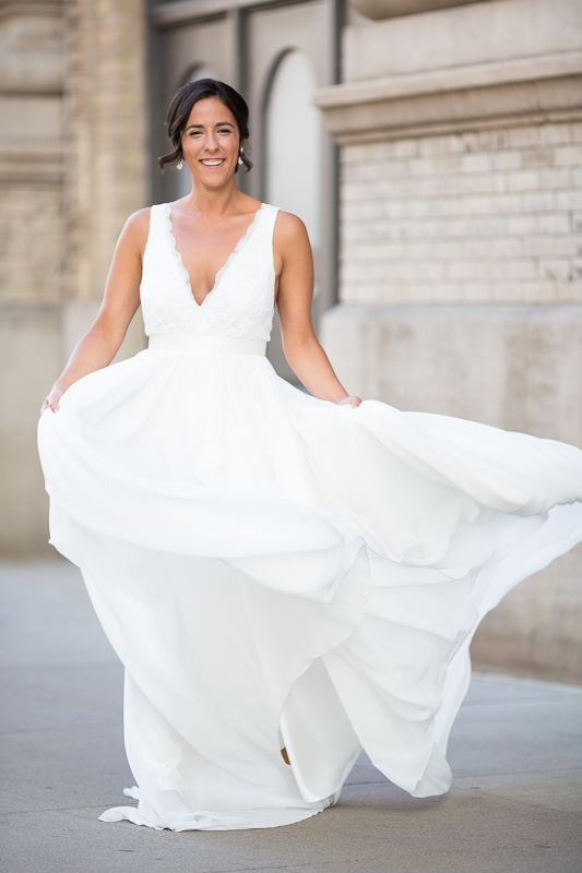 Denver Wedding Photography History Colorado dress blowing