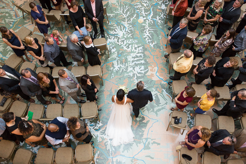 Denver Wedding Photography History Colorado walking down aisle