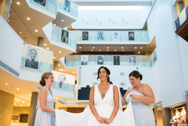 Denver Wedding Photography History Colorado bride getting bustled