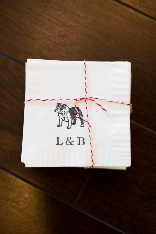 Denver Wedding Photography History Colorado custom bulldog napkins