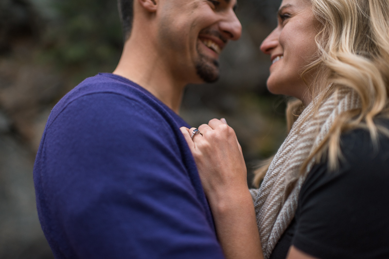 Golden Engagement Photography ring