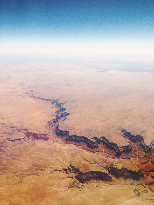 grand canyon from airplane