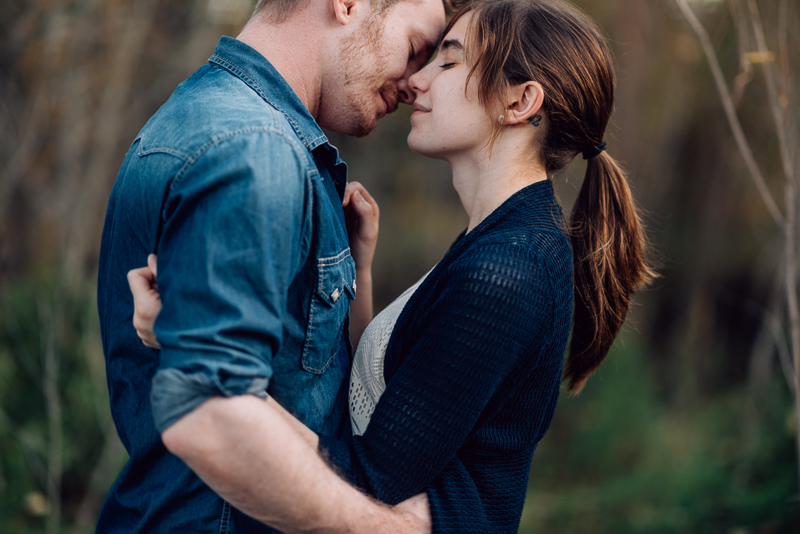 Denver engagement photography soft moment