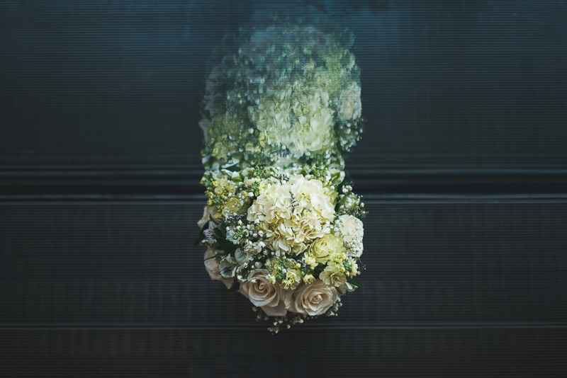 Denver wedding photography bouquet reflection