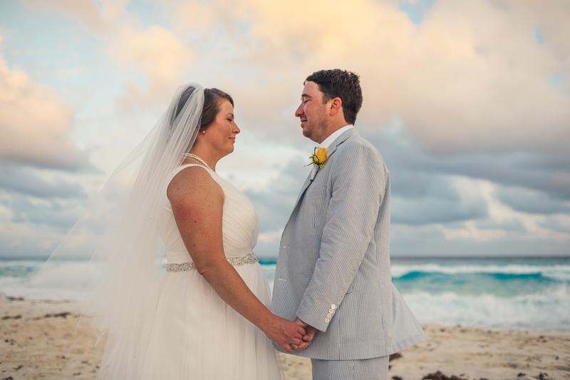 Cancun wedding photography beach sunset