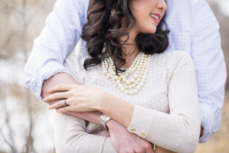 Denver engagement photography ring
