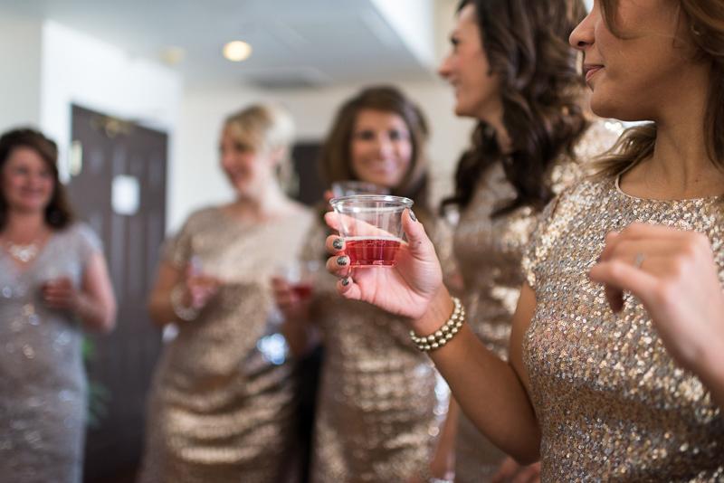 denver wedding photography bridesmaid toast