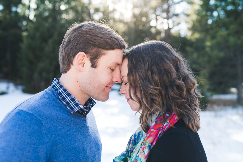 Evergreen Engagement Photography quiet moment