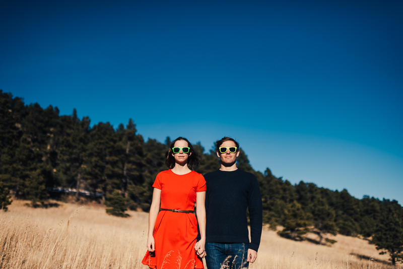 Evergreen Engagement Photography sunglasses