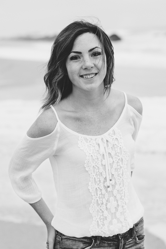 Half Moon Bay High School Senior Photography black and white