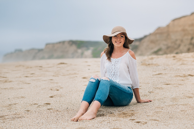 Half Moon Bay High School Senior Photography on the beach
