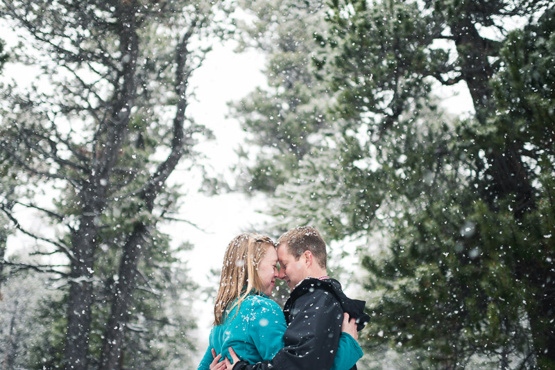 Boulder Engagement Photography light snow