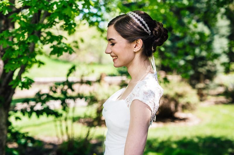 chatfield botanic gardens wedding photography bride profile