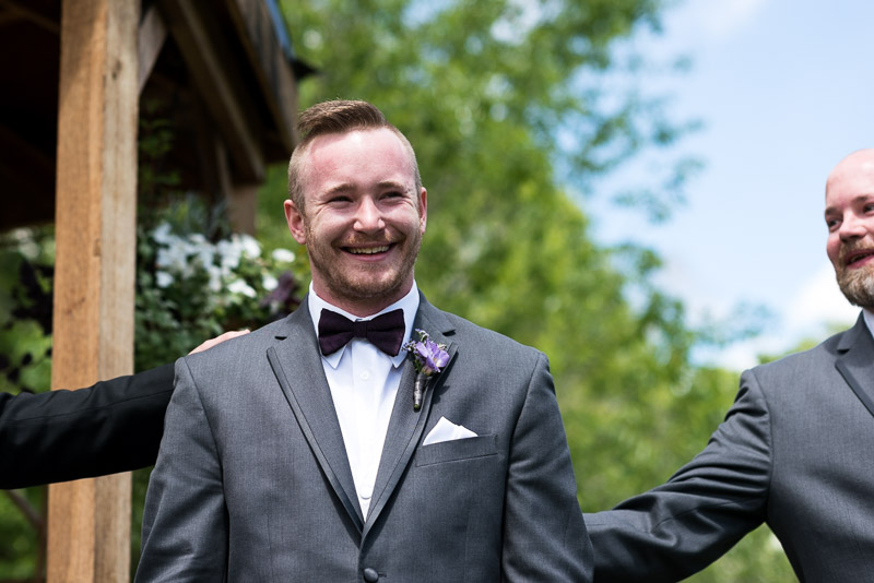 chatfield botanic gardens wedding photography happy groom