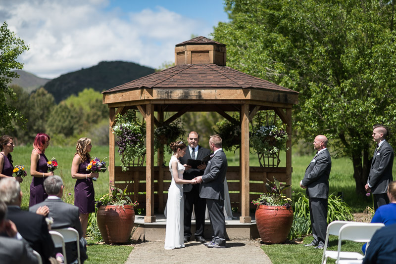 chatfield botanic gardens wedding photography ceremony