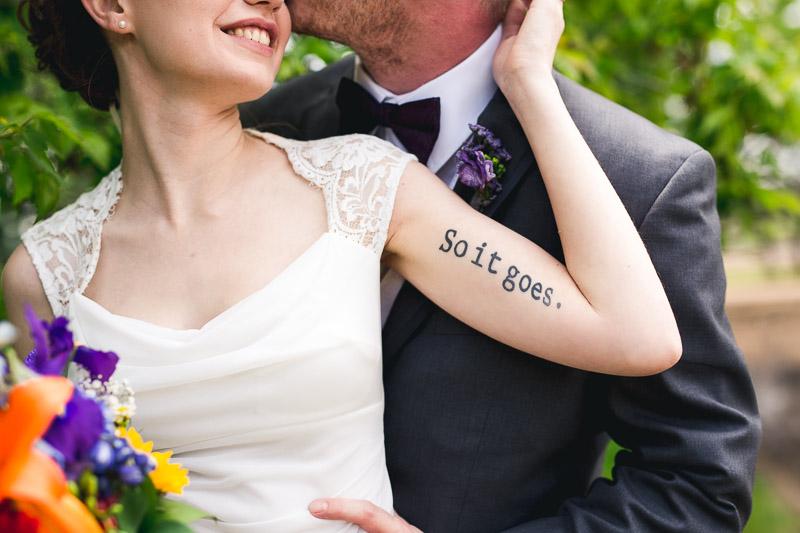 chatfield botanic gardens wedding photography tattoo so it goes
