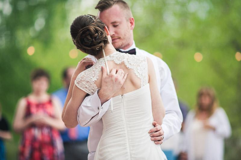 chatfield botanic gardens wedding photography first dance