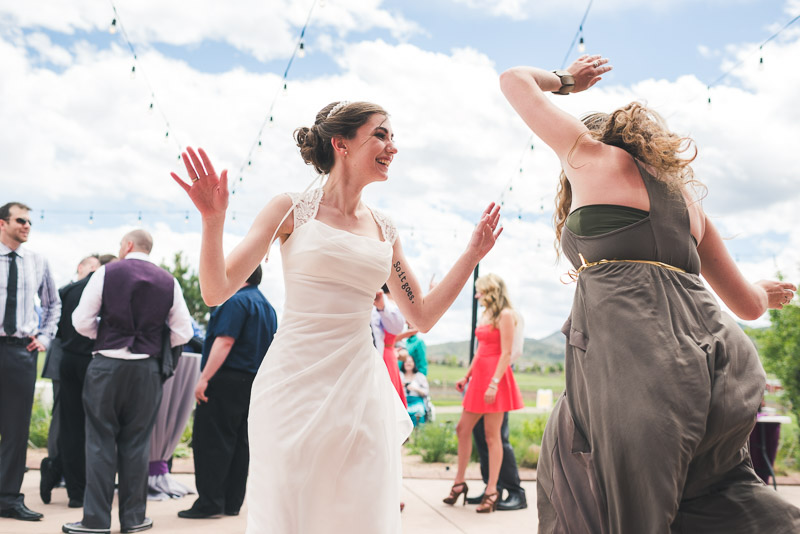 chatfield botanic gardens wedding photography dancing bride