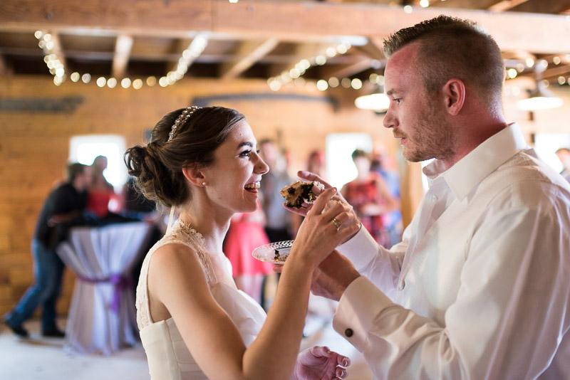 chatfield botanic gardens wedding photography eating cake