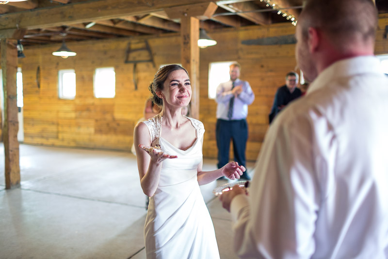chatfield botanic gardens wedding photography smiling bride