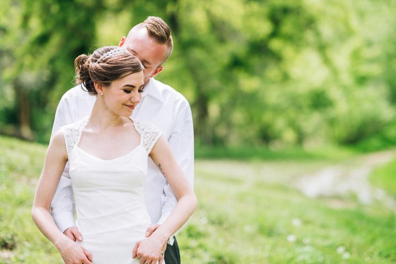 chatfield botanic gardens wedding photography kiss
